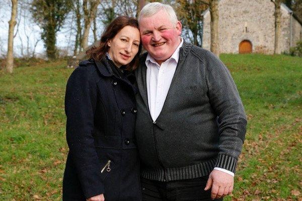 Thierry Olive et sa femme Annie dans l'émission l'amour est dans le pré