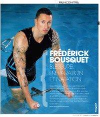 Le champion de natation Frédérick Bousquet apporte son témoignage sur l'aquabikes Waterflex